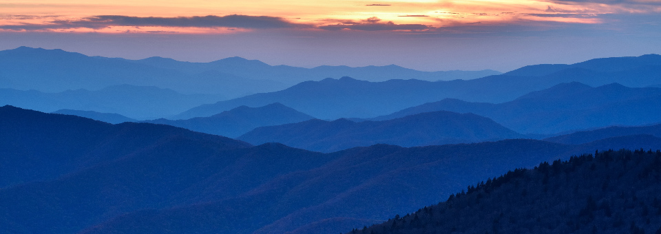 View of the horizon in the Smokey Mountains | Sheaff Brock Investment Advisors | future investment performance